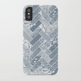 Hygge Style Textured Herringbone Pattern – Grey iPhone Case