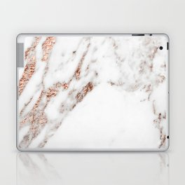 Rose gold foil marble Laptop & iPad Skin