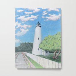 Ocracoke Lighthouse Metal Print