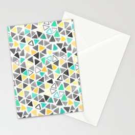 Crayon Triangles Stationery Cards