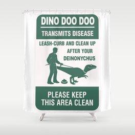 Dino Doo Doo Shower Curtain