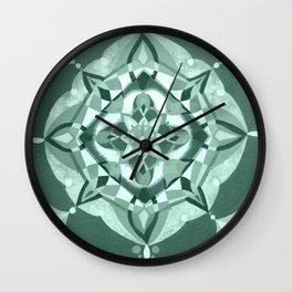 Radial 19 - Mint/Teal Wall Clock