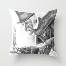 Mr. Scrooge Throw Pillow