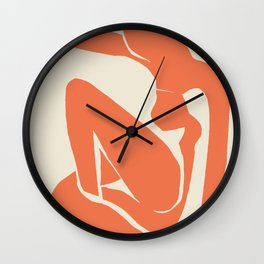 Orange Nude By Henri Matisse HD High Resolution Version Wall Clock