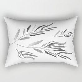 Eucalyptus Branches II Black And White Rectangular Pillow