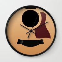 guitar Wall Clocks featuring Guitar by rob art | illustration