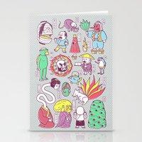 supernatural Stationery Cards featuring Yokai / Japanese Supernatural Monsters by Kimiaki Yaegashi