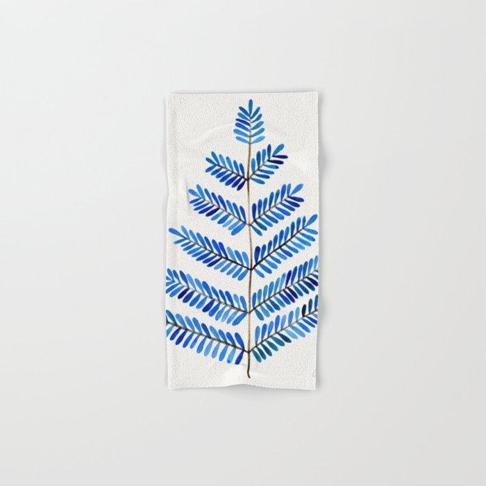 Blue Leaflets Hand & Bath Towel