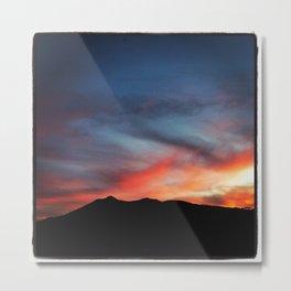 Mt Tamalpais Silhouette Metal Print