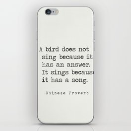 Chinese proverb 3 iPhone Skin
