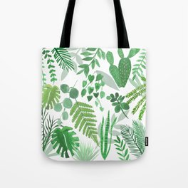 Houseplant Collage Tote Bag