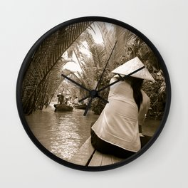 Tributary of the Mekong Delta, 60th Wall Clock