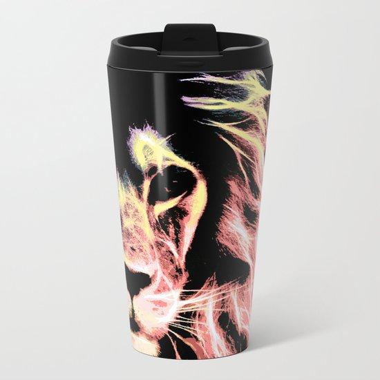 Leo Lion : Subtle Pastels Metal Travel Mug