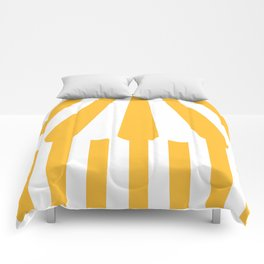 yellow tent Comforters