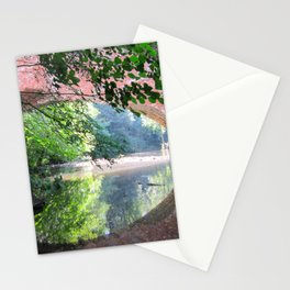 Old Bridge Water Reflection Stationery Cards