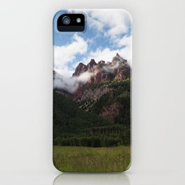Mountains in Fog iPhone Case