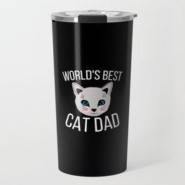 Worlds Best Cat Dad Travel Mug