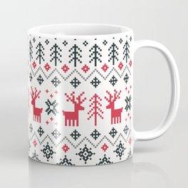 HOLIDAY SWEATER PATTERN Coffee Mug