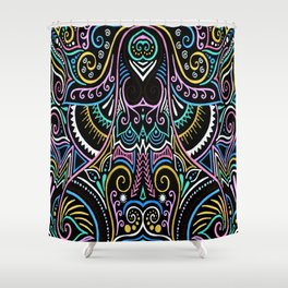 Colourful Night Shower Curtain