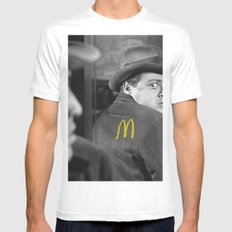 M le Maudit MEDIUM White Mens Fitted Tee