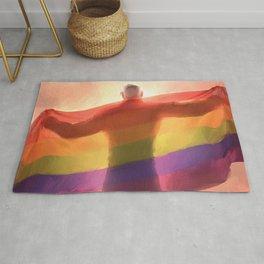 Shiro pride flag (no text) Rug