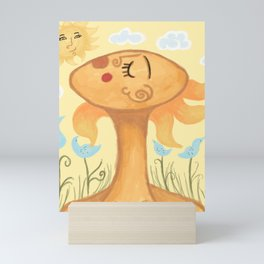 Woman With Birds Mini Art Print