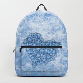 Butterflies gathering for romance in blue Backpack