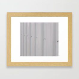 Even Metal Siding, Patterned Metal With Nuts and Bolts Framed Art Print
