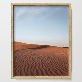 Fine Desert Structures Photo | Sahara Desert Morocco Art Print | Landscape Nature Travel Photography Serving Tray