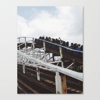 wooden Canvas Prints featuring Wooden  by David M. Frazier