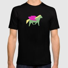 pegasus Black MEDIUM Mens Fitted Tee