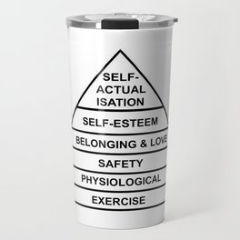 Hierarchy of needs... Exercise! Travel Mug