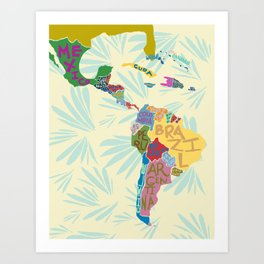 Map. Mapa. Carte. Art Print