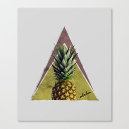 Tropical Sweet Pineapple Geometry Canvas Print