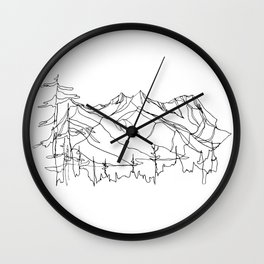 Squamish Summits :: Single Line Wall Clock