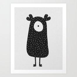 Polka Dotted Monster Art Print