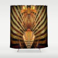 predator Shower Curtains featuring Predator by Robin Curtiss