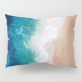 Watercolour Summer Beach IV Pillow Sham