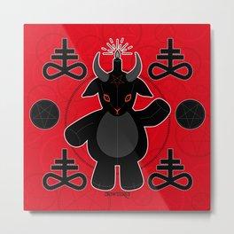 Baphomet Teddy Metal Print