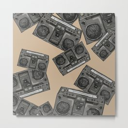 Boom boxs falling Metal Print