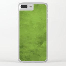 LowPoly Green Clear iPhone Case