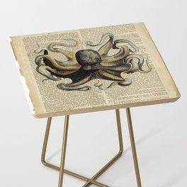 Book Art Octopus Color Side Table