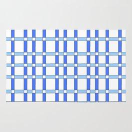 symetric tartan and gingham 29 -vichy, gingham,strip,square,geometric, sober,tartan Rug