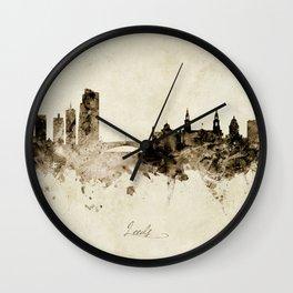 Leeds England Skyline Wall Clock