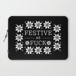 Festive as fuck Laptop Sleeve