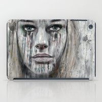 woman iPad Cases featuring woman by teddynash