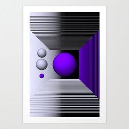 3D-geometry -3- Art Print