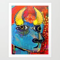 spanish Art Prints featuring Spanish Bull by Rookery Design