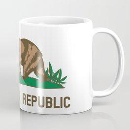 California Republic Bear with Marijuana Plants Coffee Mug