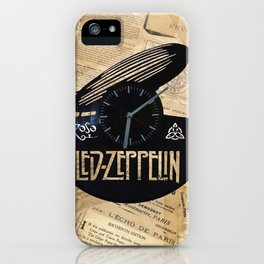Black Zeppelin iPhone Case